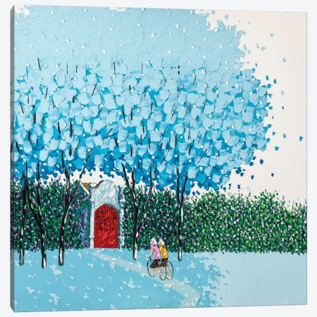 Beloved Blue Canvas Print #PTT2} by Phan Thu Trang Canvas Print