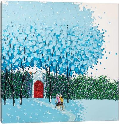 Beloved Blue Canvas Print #PTT2