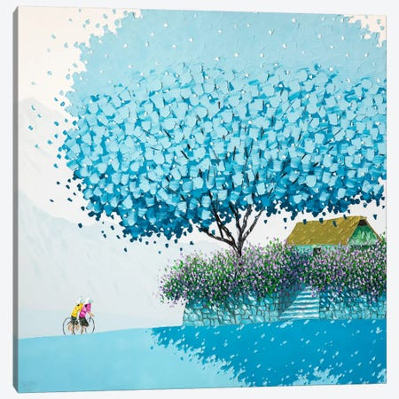 Blue Winter Canvas Print #PTT3} by Phan Thu Trang Canvas Print