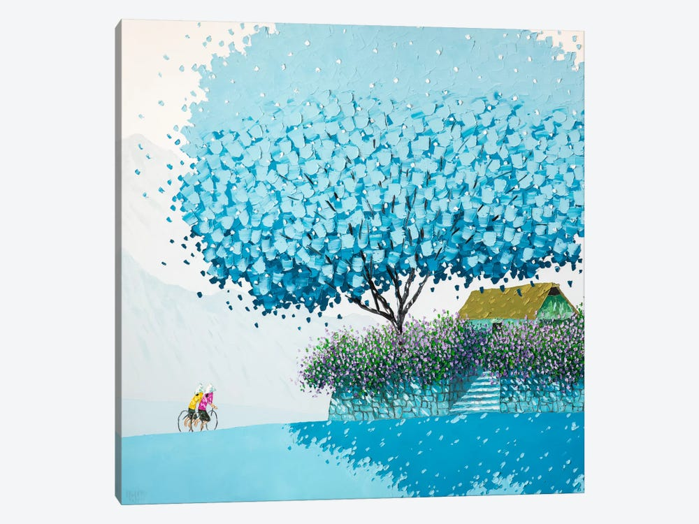 Blue Winter by Phan Thu Trang 1-piece Canvas Artwork