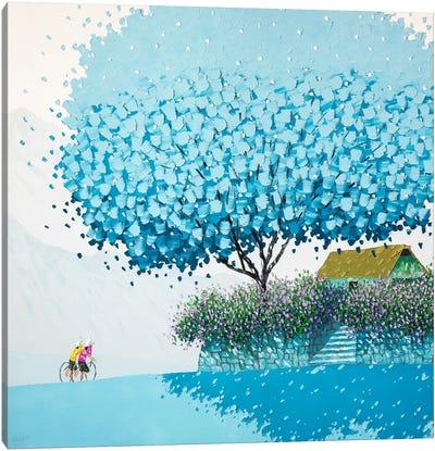 Blue Winter Canvas Art Print