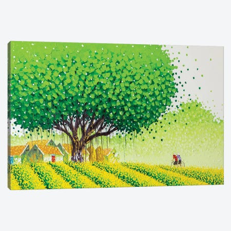 Flower Village Canvas Print #PTT5} by Phan Thu Trang Canvas Art
