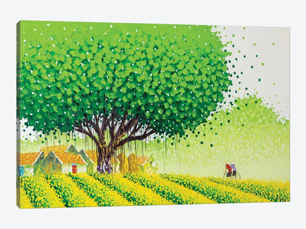 Flower Village by Phan Thu Trang 1-piece Canvas Art