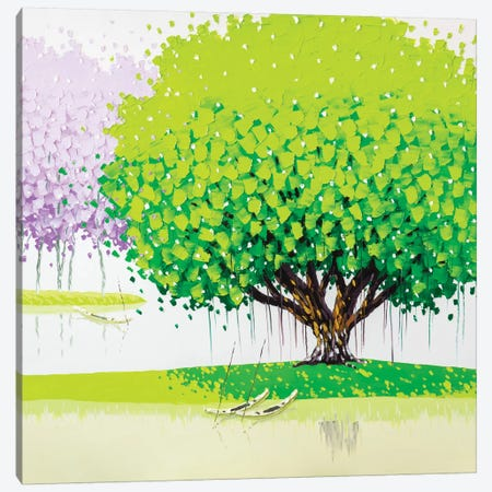 Peaceful Canvas Print #PTT9} by Phan Thu Trang Canvas Art Print