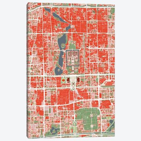 Beijing Classic Canvas Print #PUB11} by Planos Urbanos Canvas Print