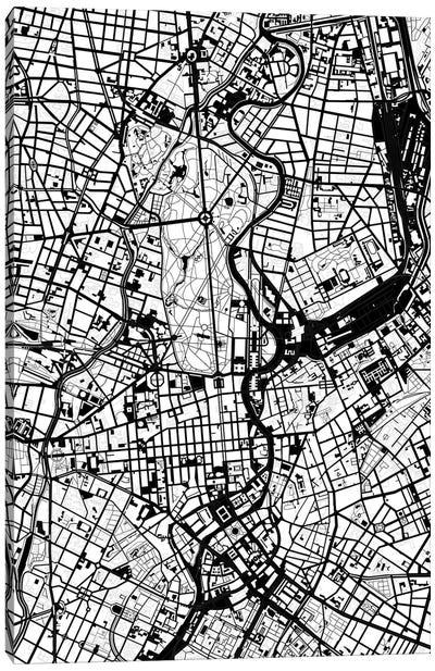 Berlin Black And White Canvas Art Print