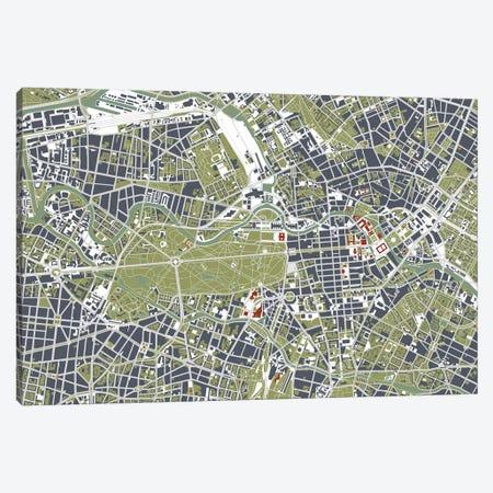 Berlin Engraving Canvas Print #PUB13} by Planos Urbanos Art Print