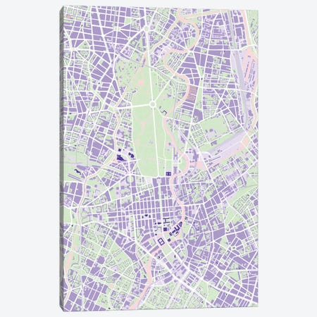 Berlin Violet Canvas Print #PUB14} by Planos Urbanos Canvas Wall Art
