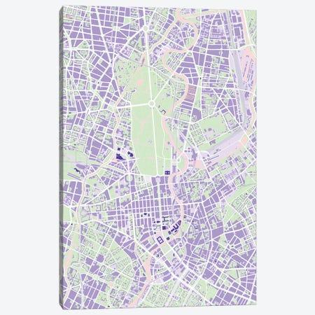 Berlin Violet Canvas Print #PUB14} by Planos Urbanos Canvas Wall Art
