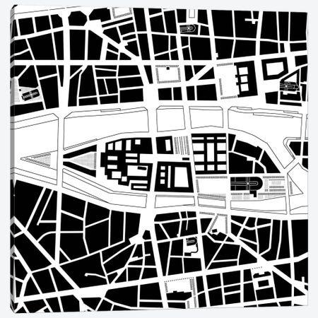 Cite Island. Paris Canvas Print #PUB16} by Planos Urbanos Canvas Wall Art
