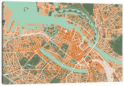 Copenhague Orange Canvas Art Print