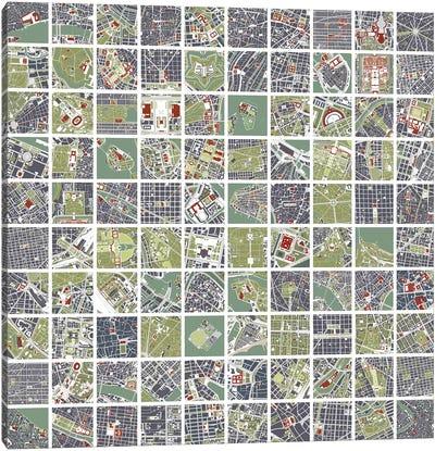 20 Cities Fragments Canvas Art Print