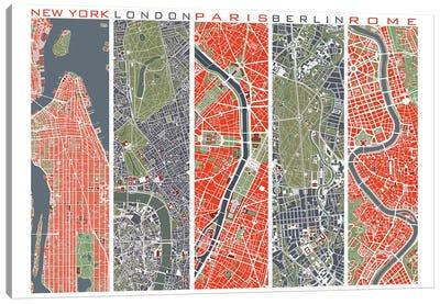 Five Cities Canvas Art Print