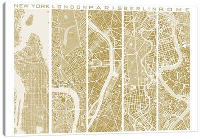 Five Cities Gold Canvas Art Print