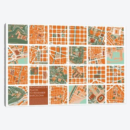 Fragments III Barcelona Canvas Print #PUB26} by Planos Urbanos Art Print