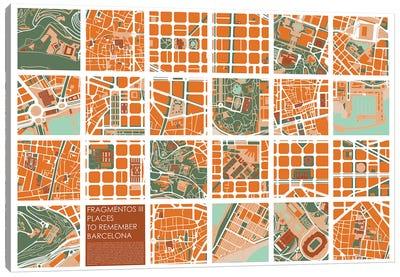 Fragments III Barcelona Canvas Art Print