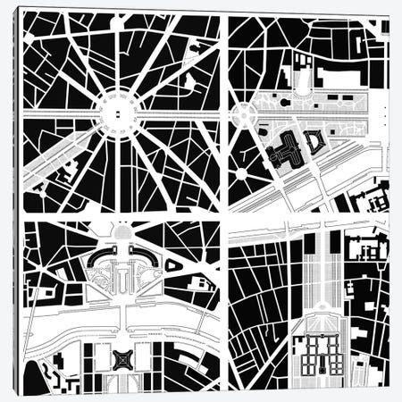 Fragments IV Paris Canvas Print #PUB27} by Planos Urbanos Art Print