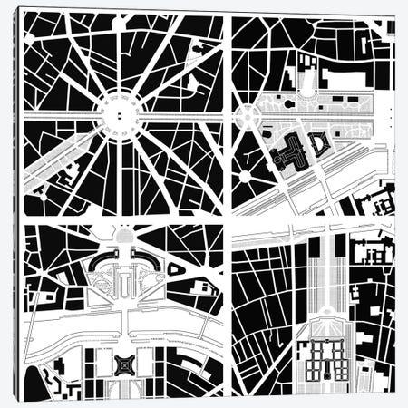 Fragments IV Paris Canvas Print #PUB27} by Planos Urbanos Art Print