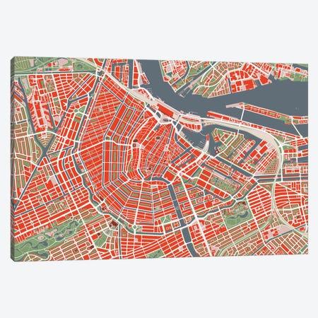 Amsterdam Classic Canvas Print #PUB2} by Planos Urbanos Canvas Print