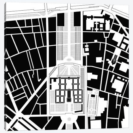 Les Invalides Paris Canvas Print #PUB32} by Planos Urbanos Canvas Print