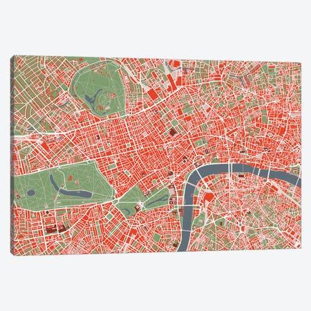 London Classic Canvas Print #PUB33} by Planos Urbanos Canvas Print
