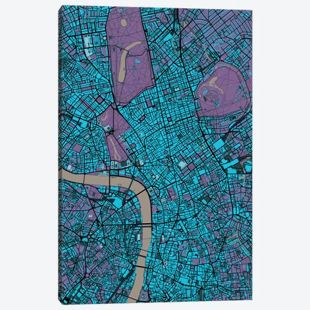 London Twilight Canvas Print #PUB35} by Planos Urbanos Canvas Wall Art