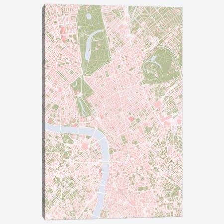 London Vintage Canvas Print #PUB36} by Planos Urbanos Canvas Wall Art