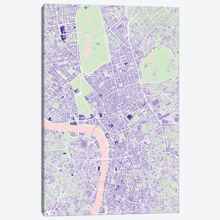London Violet Canvas Print #PUB37} by Planos Urbanos Canvas Artwork
