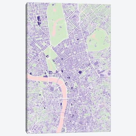 London Violet Canvas Print #PUB37} by Planos Urbanos Canvas Artwork