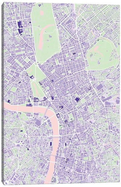 London Violet Canvas Art Print