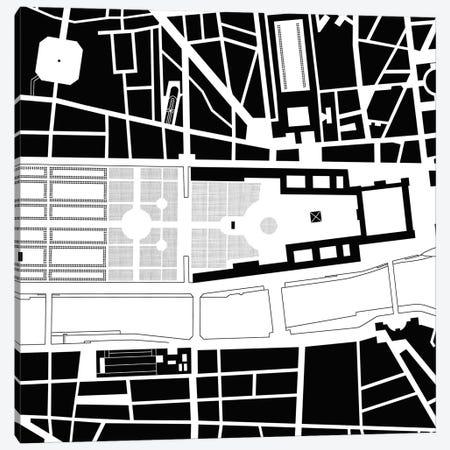 Louvre. Paris Canvas Print #PUB38} by Planos Urbanos Canvas Print