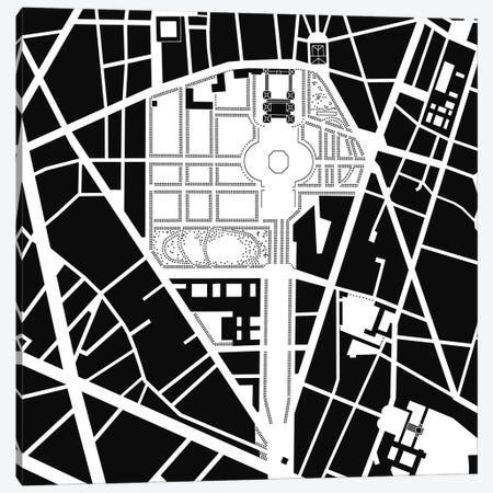 Luxembourg Gardens. Paris Canvas Print #PUB39} by Planos Urbanos Canvas Print