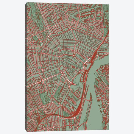 Amsterdam Pop Canvas Print #PUB3} by Planos Urbanos Canvas Print