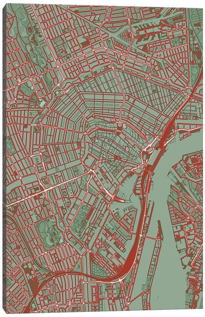 Amsterdam Pop Canvas Art Print
