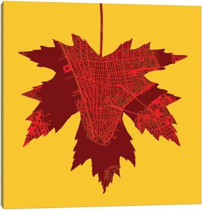 Maple NYC Autumn Canvas Art Print