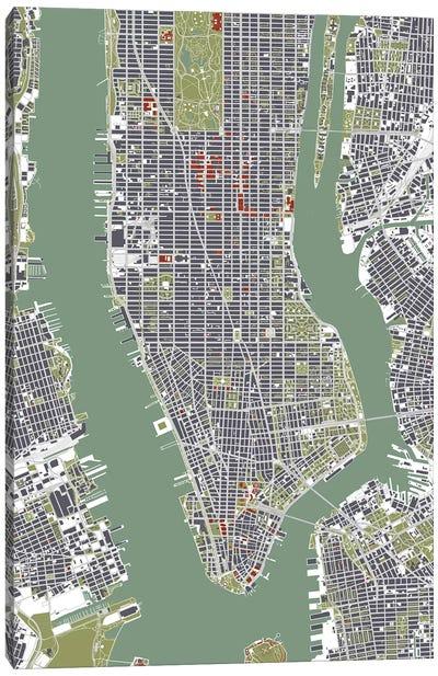 New York City Engraving Canvas Art Print