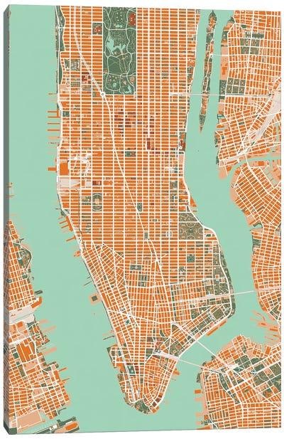 New York City Orange Canvas Art Print