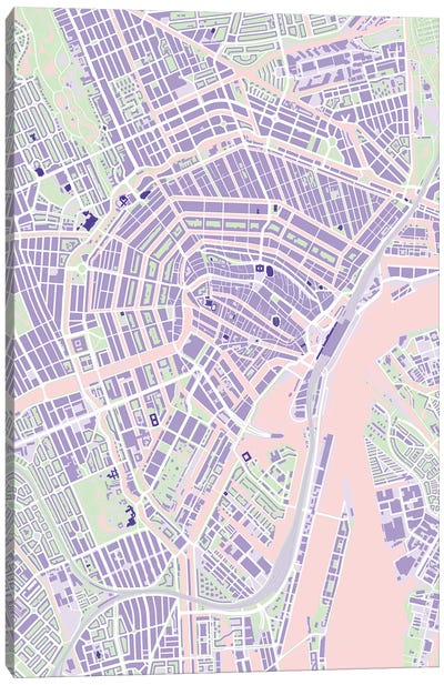 Amsterdam Violet Canvas Art Print