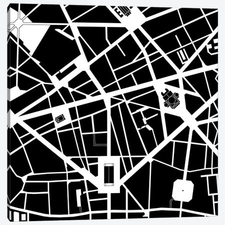 Opera. Paris Canvas Print #PUB51} by Planos Urbanos Canvas Art Print