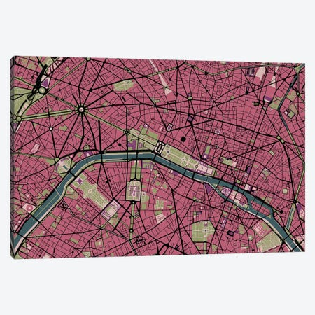 Paris Malva 3-Piece Canvas #PUB53} by Planos Urbanos Canvas Print