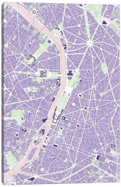 Paris Violet Canvas Art Print