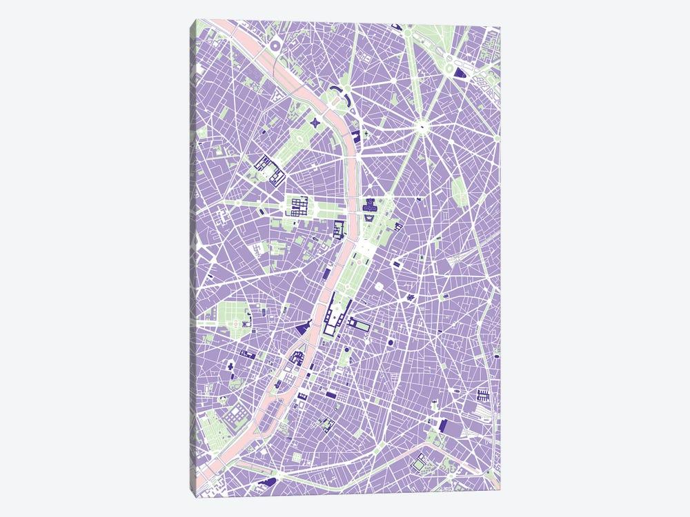 Paris Violet by Planos Urbanos 1-piece Canvas Artwork