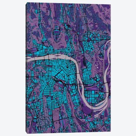 Prague Twilight Canvas Print #PUB56} by Planos Urbanos Canvas Artwork