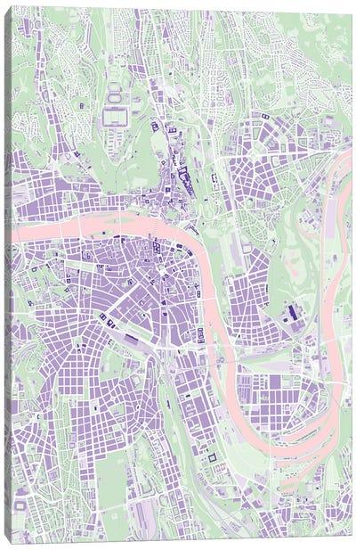 Prague Violet Canvas Art Print