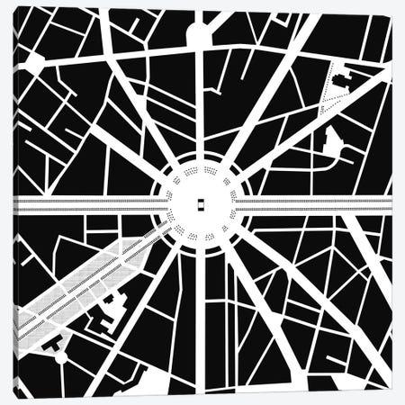 Arc De Triomphe Paris Canvas Print #PUB5} by Planos Urbanos Canvas Wall Art