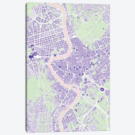 Rome Violet Canvas Print #PUB60} by Planos Urbanos Canvas Artwork