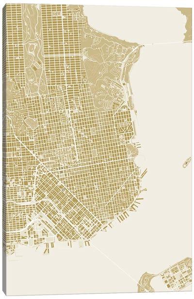 San Francisco Gold Canvas Art Print