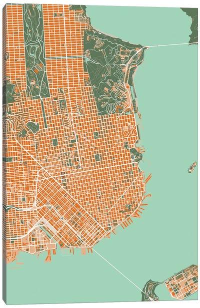 San Francisco Orange Canvas Art Print
