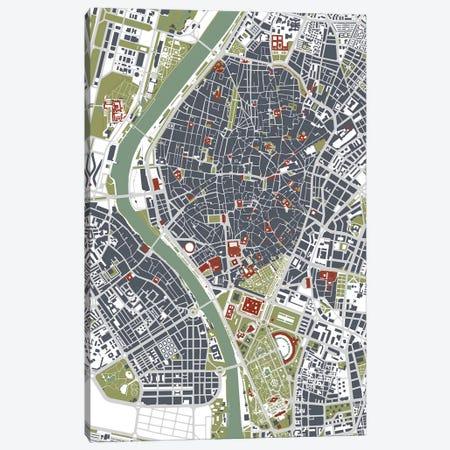 Seville Engraving Canvas Print #PUB65} by Planos Urbanos Canvas Art Print
