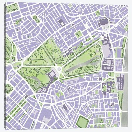 St James Park Canvas Print #PUB66} by Planos Urbanos Canvas Print